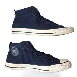 CONVERSE•Navy Chucks Blue Mid Sneaker (Unisex)